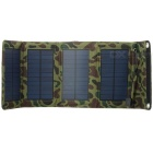 7W Folding Solar Panel Charger for Mobile Phone + Camera + More - Camouflage