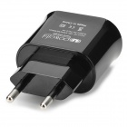 5V 2A Dual USB EU Plug Power Adapter para IPHONE, Samsung + mais-preto