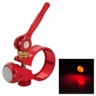GUB G-580 31.8 Aluminum Alloy Cycling Bicycle Seat Post Clamp w/ 2-Mode Light - Red