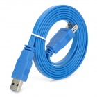 UNITEK Y-C414 USB 3.0 Type-A Male to Female Extender Flat Cable - Blue (1.5m)