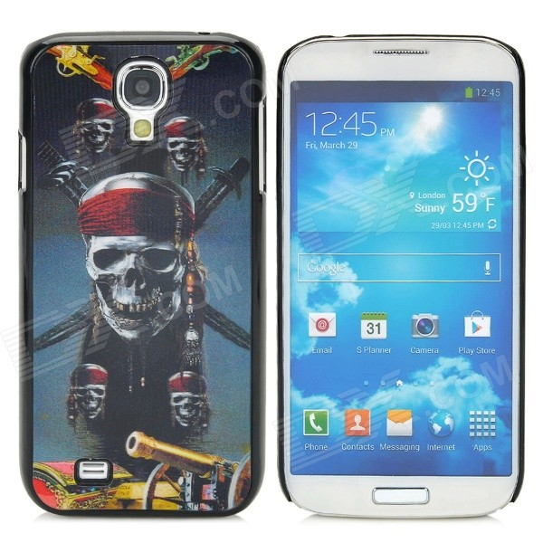 3D Pirate Skull Style Protective Plastic Back Case for Samsung Galaxy S4 i9500 - Multicolor enkay quick sand style protective plastic back case for samsung galaxy note 4 n9100 blown