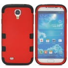Detachable Protective Silicone + PC Back Case for Samsung Galaxy S4 i9500 - Red + Black