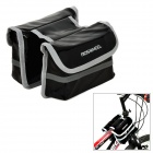 ROSWHEEL 12659 Waterproof Cycling Bicycle PU Top Tube Double Storage Bag - Black