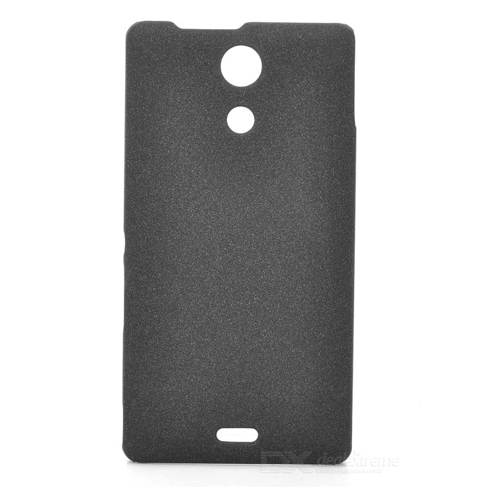 Quicksand Style Protective PC Back Case for Sony Xperia ZR M36h - Black pudini wbm36hy protective frosted pc back case for sony xperia zr m36h translucent black