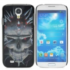 3D Skull Style Protective Plastic Back Case for Samsung Galaxy S4 i9500 - Black + Grey + Red