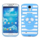 Cool Skull Style Hollow-Out Protective Back Case for Samsung Galaxy S4 i9500 / i9508 - Blue