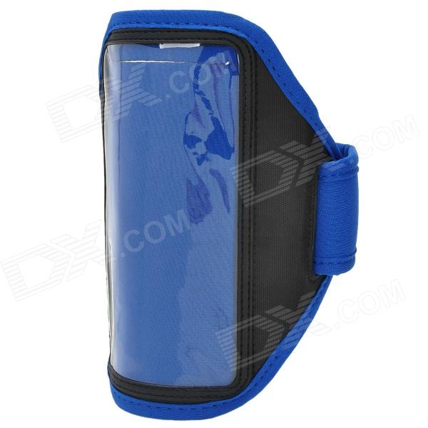 Stylish Sports Gym Armband Case for LG Optimus G Pro F240K - Blue + Black for lg optimus g e977 f180k f180s f180l