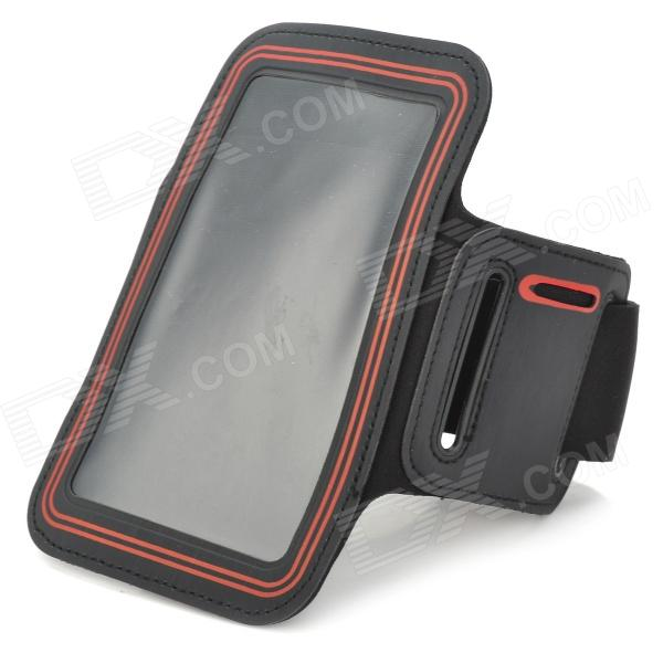 Stylish Sports Gym Armband Case for LG Optimus G Pro F240K - Red + Black for lg optimus g e977 f180k f180s f180l