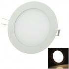 Geming 9W 600lm 3500K 3014 Warm White Light Round Panel-LED-Lampe - Weiß