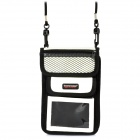 Travelicons Multifunctional PU Multi-Pocket Travelling Bag - Black + White
