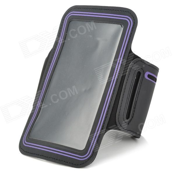 Stylish Sports Gym Armband Case for LG Optimus G Pro F240K - Black + Purple sports stylish gym armband case for lg nexus e960 e970 optimus g black
