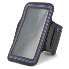 Stylish Sports Gym Armband Case for LG Optimus G Pro F240K - Black + Purple