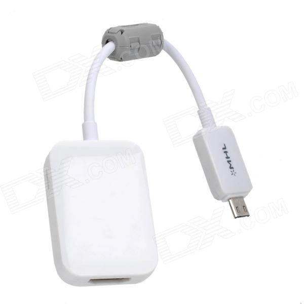 MHL Micro USB to HDMI Cable HDTV Adapter for Samsung Galaxy S4 i9500 - White