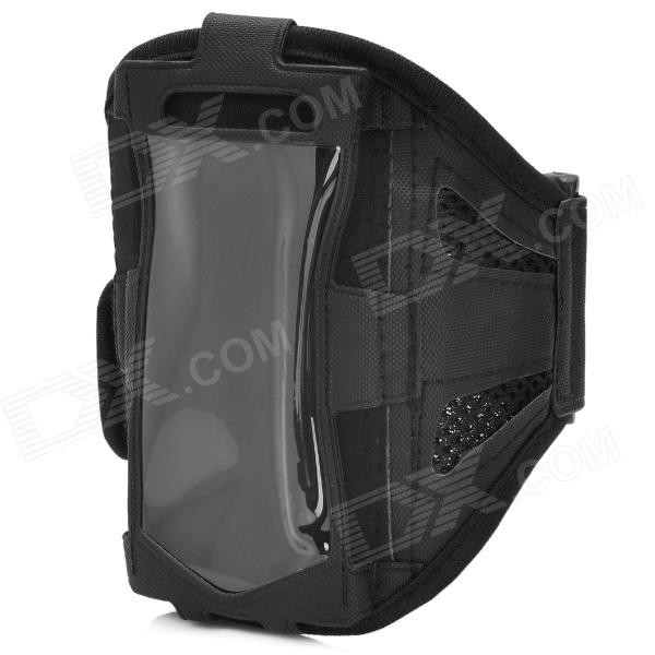 цена на Sports Gym Mesh Fabric Armband Case for Samsung Galaxy S4 Mini i9190 - Black