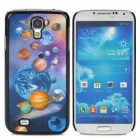 3D Planets Style Protective Plastic Back Case for Samsung Galaxy S4 i9500 - Black + Blue + Brown