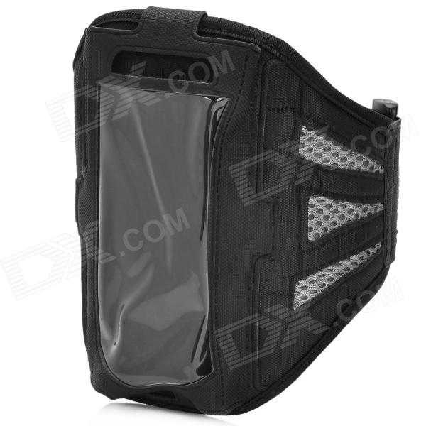 Sports Gym Mesh Fabric Armband Case for Samsung Galaxy S4 Mini i9190 - Grey + Black отсутствует металлоснабжение и сбыт 12 2011