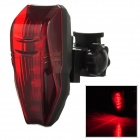 Cycling 7-Mode 5-LED Bicycle Tail / Saddle Lamp w/ Mount Holder - Black + Red (2 x AAA)