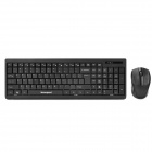 Motospeed G1000 2.4G Wireless Mute Ultra-Slim 105-Key Keyboard + Mouse Set - Black