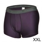 Naturehike Quick-drying Sports Men's Polyester + Spandex Underpants - Purple + Deep Grey (Size XXL)