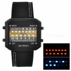 13-LED Binary Date Time Wrist Watch (1*CR2032)