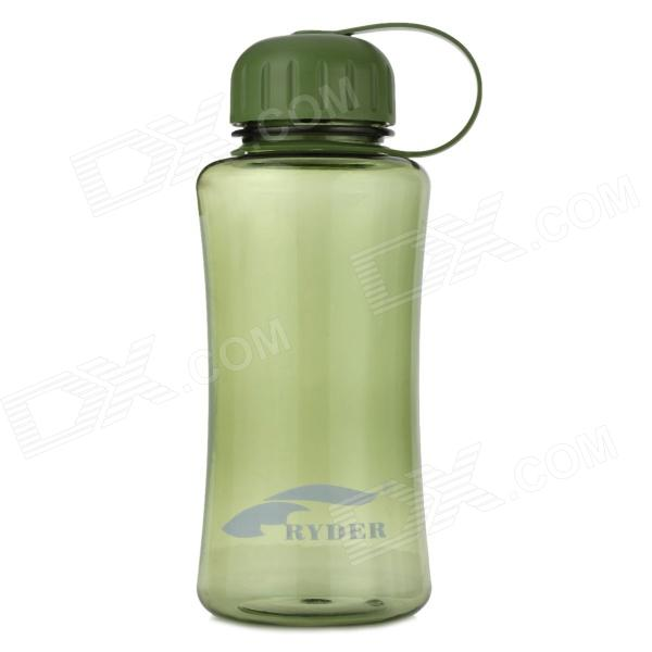 RYDER Outdoor Leak-Proof Plastic PC Water Bottle w/ Filter Cover - Army Green (800ml)