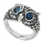 Cool Big Owl Stil Metall Ring - Silber