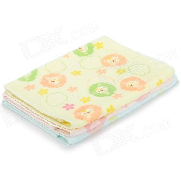 1000 Bear Pattern 100% Pure Cotton Kid's Bathing Towel - Pink + Yellow + Blue (5 PCS) от DX.com INT
