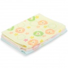 1000 Bear Pattern 100% Pure Cotton Kid's Bathing Towel - Pink + Yellow + Blue (5 PCS)