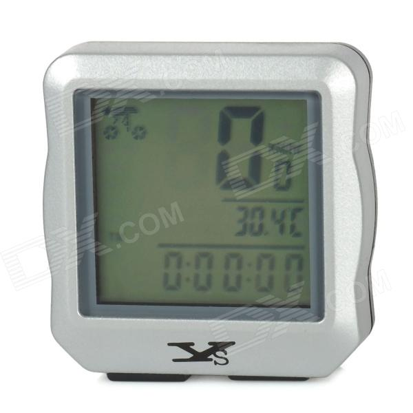 YS YS-618 Convenient Mini 1.5 LCD Wired Stopwatch for Cycling - Silver + Black (1 x CR2032)