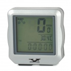 "YS YS-618 Convenient Mini 1.5"" LCD Wired Stopwatch for Cycling - Silver + Black (1 x CR2032)"