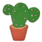 Creative Potted Plant Style Fridge Magnet - Green + Red