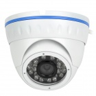 "Water Resistant 1/4"" CMOS 800TVL Surveillance Security Camera w/ 24-IR LED - White (NTSC)"