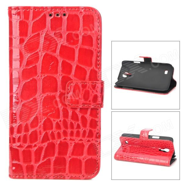 Stylish Crocodile Pattern Flip-open Protective PU Leather Case for Samsung i9190 (S4 Mini) - Red - DXLeather Cases<br>Brand N/A Quantity 1 Piece Color Red Material PU leather Compatible Models Samsung i9190 (S4 Mini) Other Features Protects your device from shock scratch and abrasion. Packing List 1 x Case<br>
