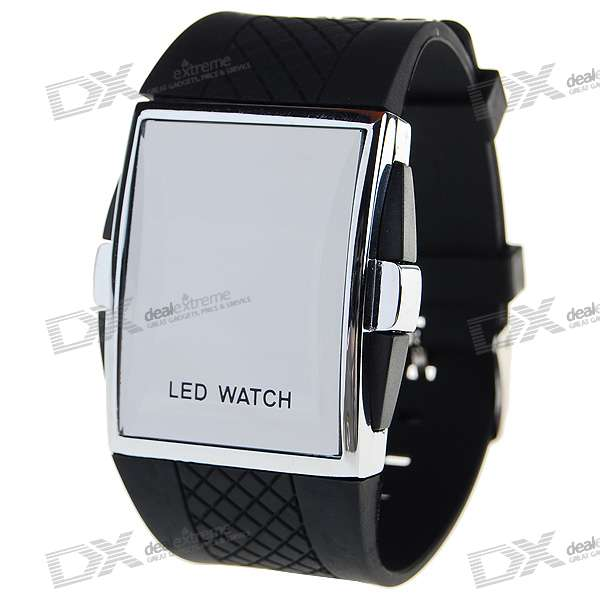 Silicone Band LED Fashion Wrist Watch with Weekday Display (1*CR2016)