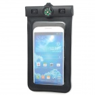 Universal Waterproof Bag w/ Built-in Compass / Armband / Strap for Samsung / Cellphone - Black