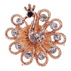 Stylish Peacock Style Rhinestone Home Button Sticker for Iphone 5 / 4S / Ipad - Rose Gold