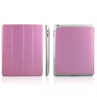 ENKAY ENK-3137 Protective PU Leather Case for iPad 2 / 4 / the New iPad - Pink
