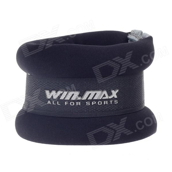 WIN.MAX WMF09150 Fashionable Soft Neoprene Fabric Weight Straps for Fitness - Black + Grey