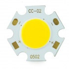 5W 475lm 3200K COB LED Warm White Light Aluminum Plate - Yellow (DC 15~17V / 3 PCS)