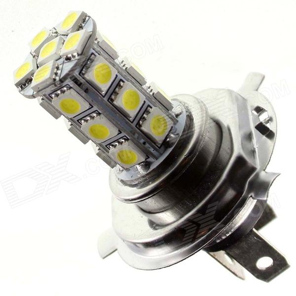 TZY TSQ89 H4 4W 220Im 6500K 24-5050 SMD White Light Car Headlamp - White + Silver + Yellow (12V) 12v led light auto headlamp h1 h3 h7 9005 9004 9007 h4 h15 car led headlight bulb 30w high single dual beam white light