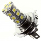 TZY TSQ89 H4 4W 220Im 6500K 24-5050 SMD White Light Car Headlamp - White + Silver + Yellow (12V)