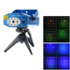 NW-S-G011 Mini Red / Green Laser Stage Lamp w/ 10 Blue LEDs / Remote Controller