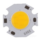 3W 285lm 3200K COB LED Warm White Light Aluminum Plate - Yellow (DC 9~11V / 3 PCS)