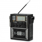 SHOUYU DP330 Full-Band Desktop FM Radio / MP3 Player / Megaphone w/ SD - Black + Silver