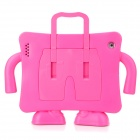 Multifunction Handheld Protective Plastic EVA Case Holder for Ipad 2 / 3 / 4 - Deep Pink