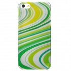Protective Electroplating PC Case for Iphone 5 - Yellow + White + Green