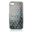 ENKAY Tower Pattern Protective Plastic Back Case for Iphone 4 / 4S - Multicolor