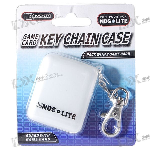 2*Game Cart Storage Slots Keychain for NDS/NDSi/NDS Lite (White)