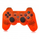 Wireless Dual Shock 6-Axis Bluetooth V4.0 Controller for PS3 / PS3 Slim - Transparent Orange