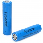 Rechargeable 3.7V 2400mAh 18650 Li-ion Battery w/ Protection Board - Blue (2 PCS)